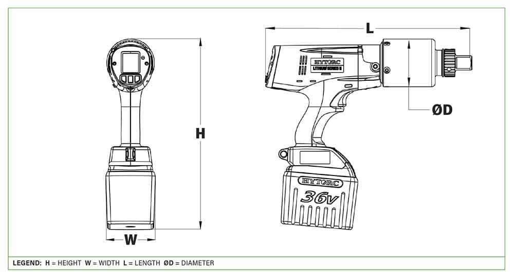 Dimensions visseuses LST - Hytorc