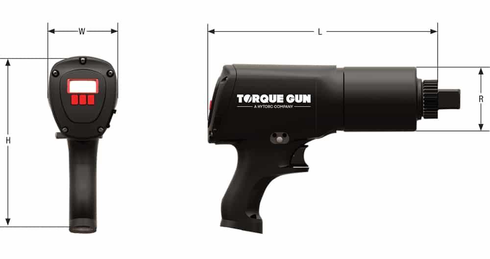 Schéma technique visseuse digital jgun - Hytorc
